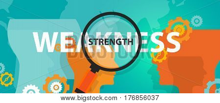 strength weakness analysis SWOT in business thinking vector