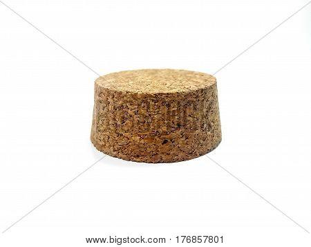 Wine cork white background  isolated on white background.