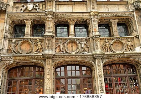 Rouen France - november 26 2016 : the historical tourism office