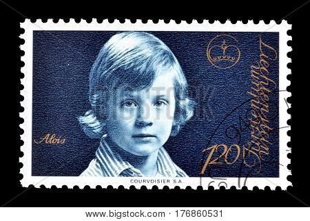 LIECHTENSTEIN - CIRCA 1975 : Cancelled postage stamp printed by Liechtenstein, that shows Prince Alois.