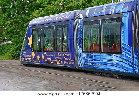 Strasbourg France - july 24 2016 : the tramway