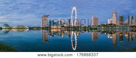 Landscape and panorama of singapore city Singapore