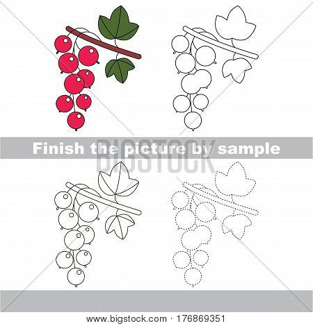 Red Currant to be finished, page to be completed to educate preschool kids with easy kid educational gaming and primary education of simple game level of difficulty.