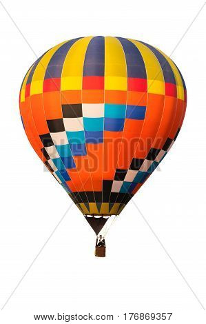 Hot air ballon for designer on white background and clipping part for easy to use red green blue yellow