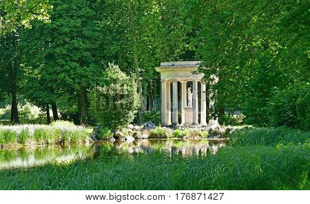 Chantilly France - august 14 2016 : Venus temple in the park of the castle of Chantilly
