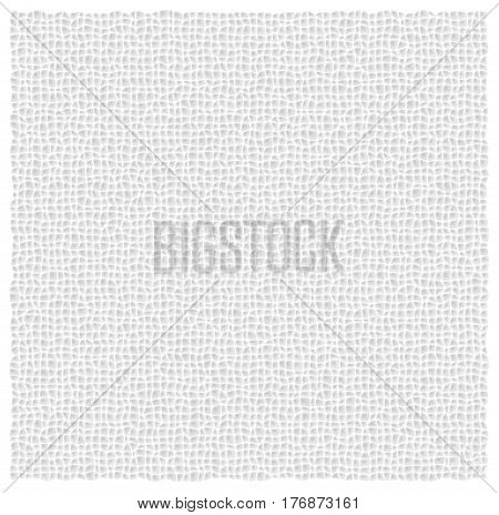 Leather-like white vector texture. Light gray background.