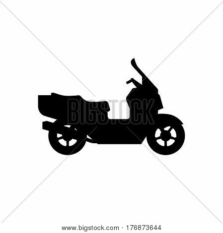 Maxi Scooter black silhouette on white background