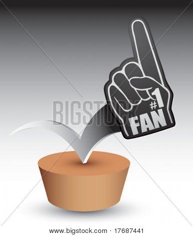 number one fan foam hand on patch