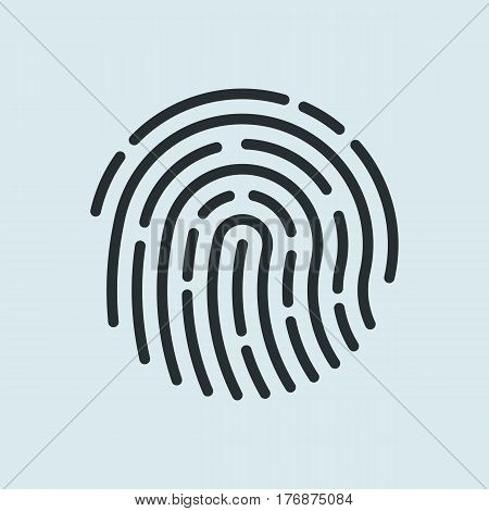 Fingerprint recognition icon.  Finger print symbol. Vector illustration.