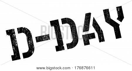 D-Day rubber stamp. Grunge design with dust scratches. Effects can be easily removed for a clean, crisp look. Color is easily changed.