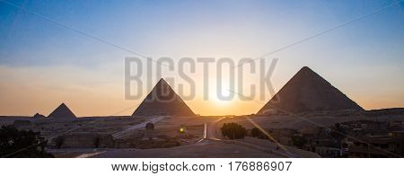 The Pyramids and Sphinx in Giza Egypt