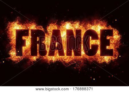 france fire text flame flames burn burning hot explosion explode