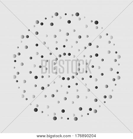Colorful abstract background with circles of different color randomly distributed dots confetti. Vector illustranbon. Abstract whirligig pattern. Dotted print. Circle distress texture.