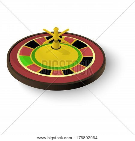 Casino roulette icon. Isometric 3d illustration of casino roulette vector icon for web