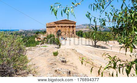 Valley Of The Temples With Tempio Della Concordia
