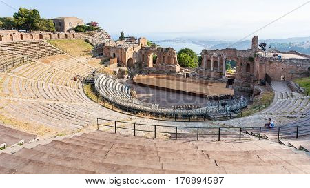 Ancient Greek Theater In Taormina City