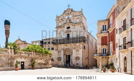 Chiesa Di Santa Lucia Alla Badia On Piazza Duomo