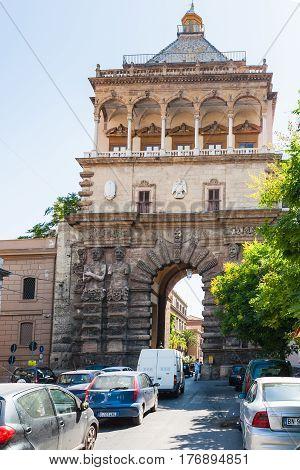 Porta Nuova From Via Corso Calatafimi In Palermo