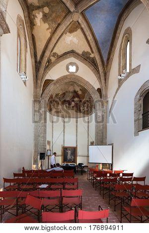 Interior Chapel Of Palazzo Steri In Palermo