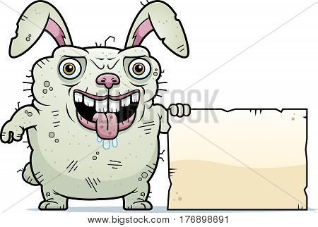 Ugly Bunny Sign