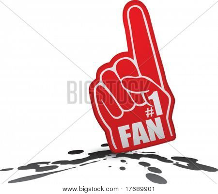 number one fan foam hand on splat