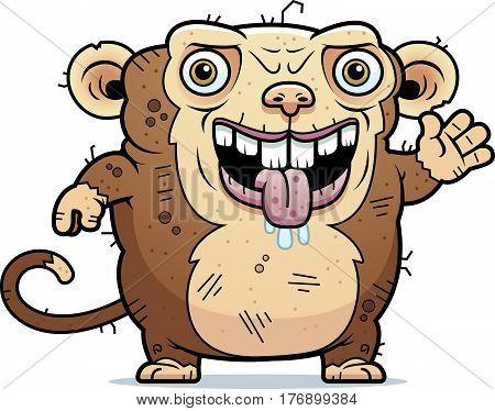 Ugly Monkey Waving