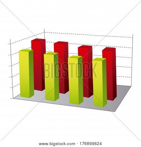 data statistic graphics concepto, vector illustration design