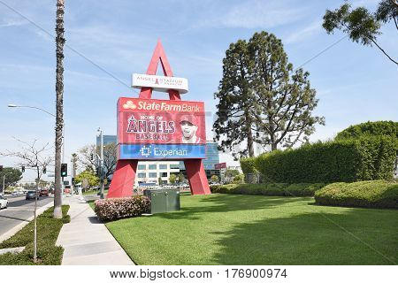 Angel Stadium Sign