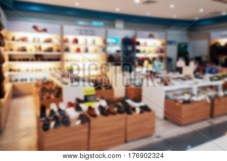 Blurred Photo, Blurry Image,inside Of The Shoe Shop,background