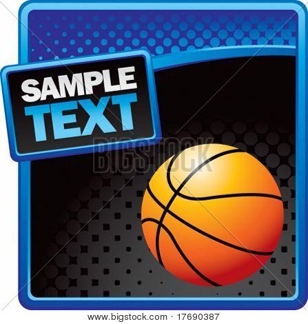 Basketball auf Halbton-Vorlage