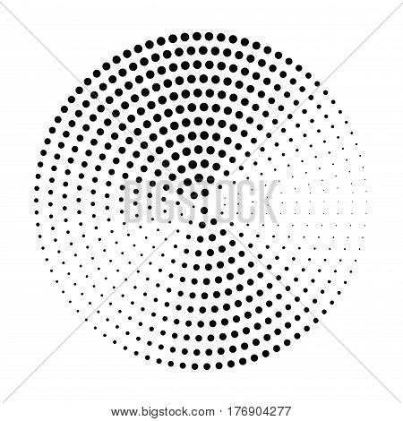 Abstract halftone circle background. Halftone dots vector pattern. Black dots on white background retro style