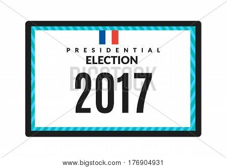 French presidential election 2017. Vector illustration Isolated on white background.
