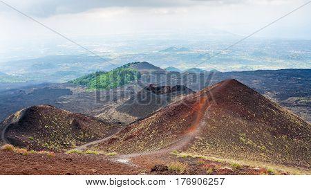 Natural Landascape On Etna Volcano