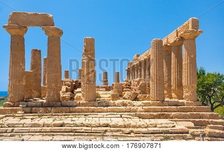 Temple Of Juno (hera) In Valley Of The Temples
