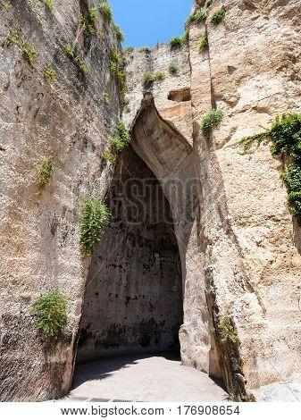 Orecchio Di Dionisio (ear Of Dionysius) Cave