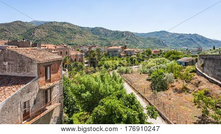 Residential Houses In Francavilla Di Sicilia Town