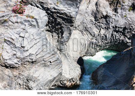 Gole Dell Alcantara River In Sicily