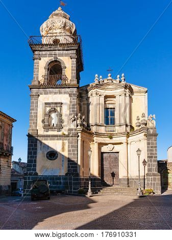 Front View Of Saint Antonio Church In Sicily