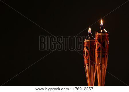 bamboo pelita icon of hari raya