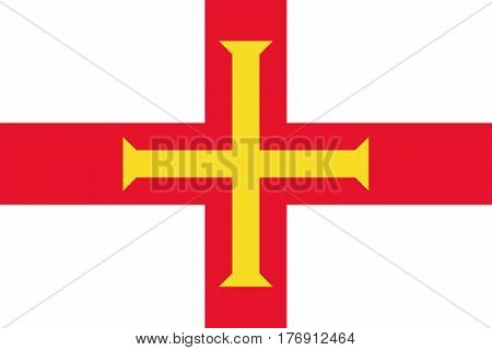 Official vector flag of Bailiwick of Guernsey .