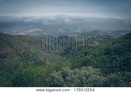 Central Gran Canaria, View From The Top Of Mountain