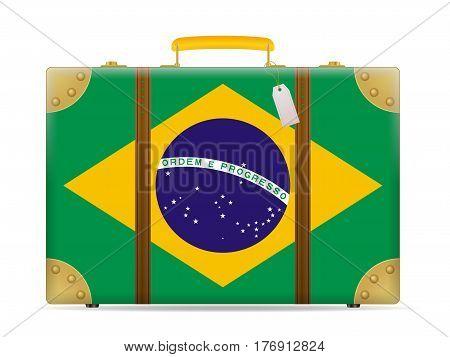 Brazil Flag Travel Suitcase