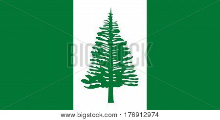 Official vector flag of Norfolk Island .