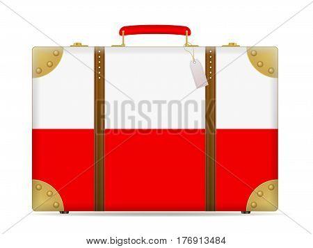 Poland Flag Travel Suitcase
