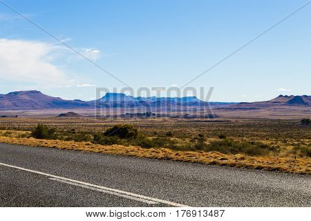 Perspective Road From Orange Free State, South Africa