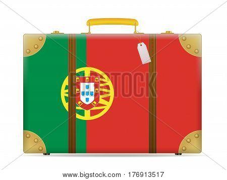 Portugal Flag Travel Suitcase