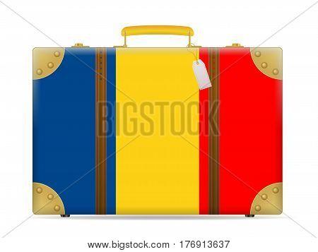 Romania Flag Travel Suitcase