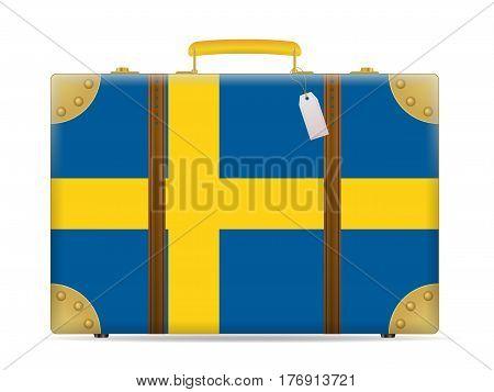 Sweden Flag Travel Suitcase