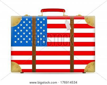 Usa Flag Travel Suitcase