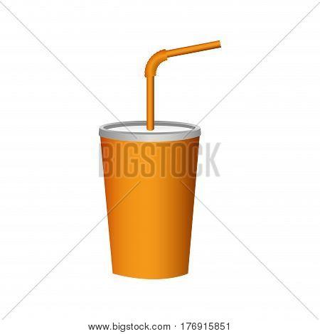 delicious beverage soda icon, vector illustration image